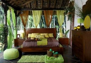 green blue and brown bedroom | Exotic Bedroom 300x207 Exotic Bedroom Green and Brown