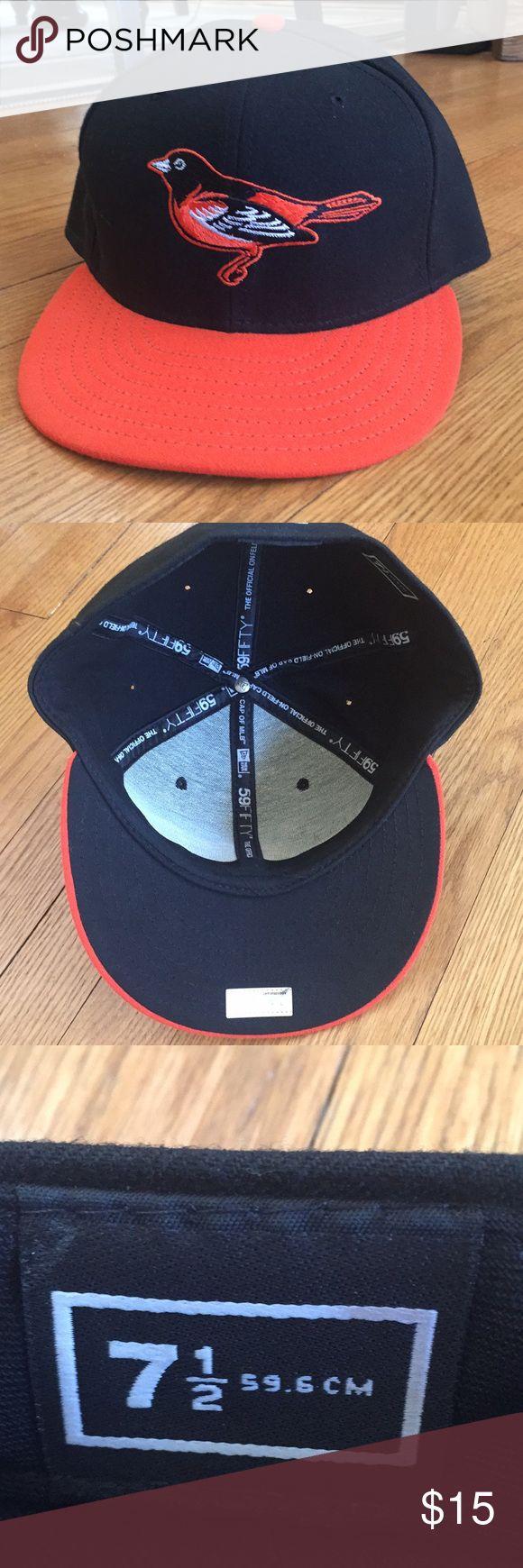 Authentic New Era Orioles cap.   🍁 Like new condition, New Era 59FIFTY cap, size 7 1/2, Baltimore Orioles New Era Accessories Hats