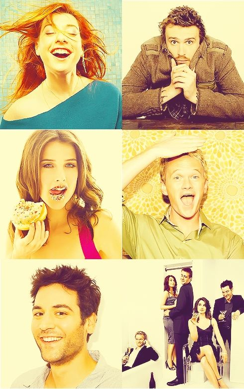Alyson Hannigan, Jason Segal, Cobie Smulders, Neil Patrick Harris, and Josh Radnor. Lily, Marshall, Robin, Barney, and Ted. How I Met Your Mother.