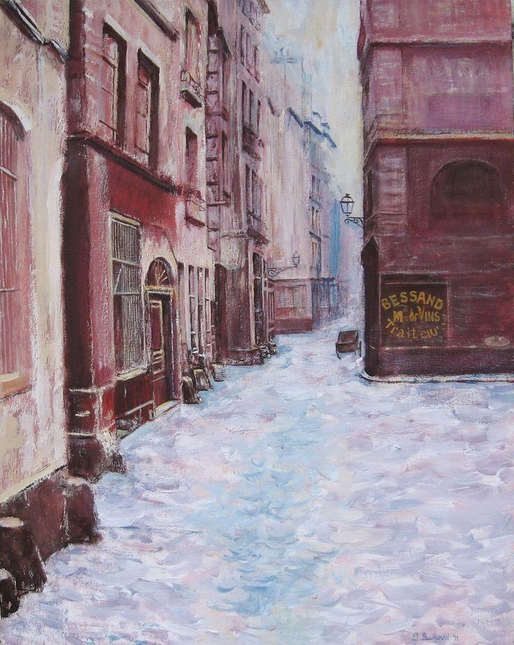 Slobodan Paunovic Artwork Title: rue de marmousets paris 1865. Contemporary artist Contemporary Painter, Artist from Beograd Yugoslavia. Free Artist Portfolio Website - absolutearts.com
