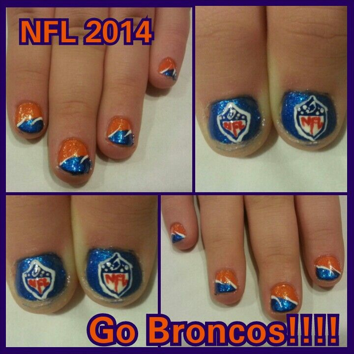 16 best Denver Bronco nail art images on Pinterest ...