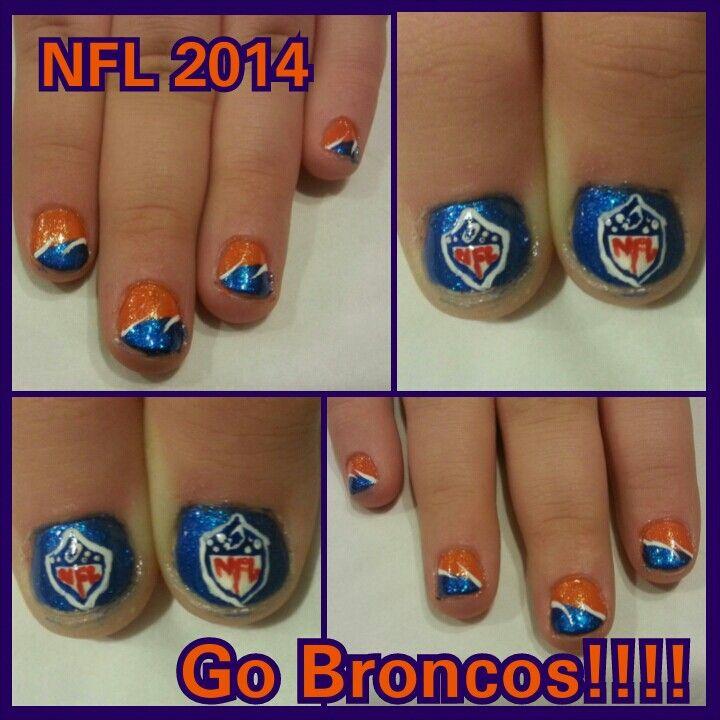 16 best Denver Bronco nail art images on Pinterest ...