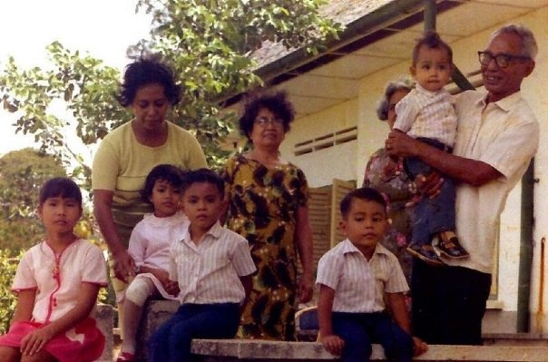 at my grands house in Manggar - Belitung