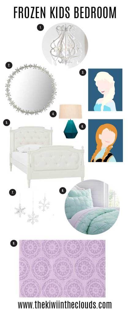 Frozen bedroom theme decor plus 2 FREE Frozen Printables.