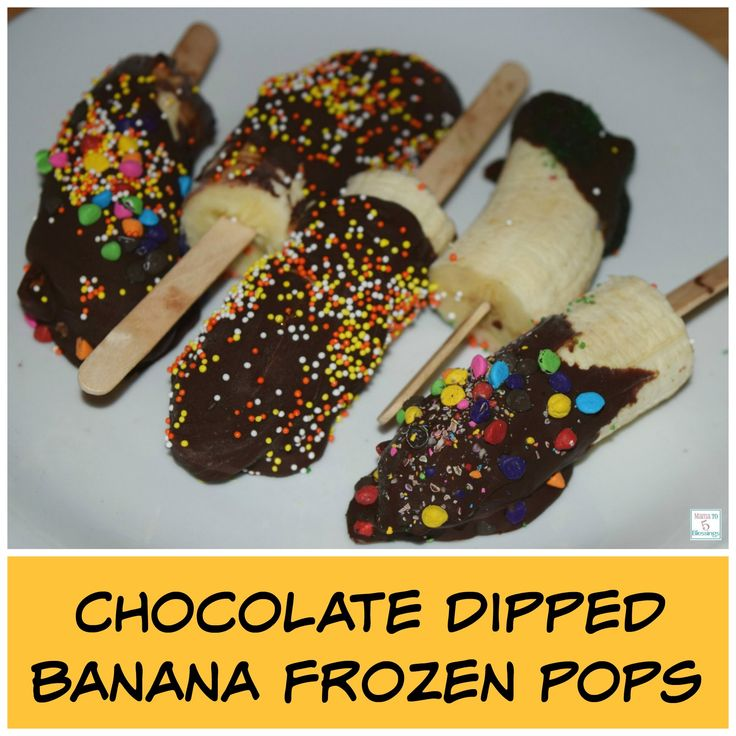 chocolate dipped bananas 10 chocolate frozen banana pops frozen pops ...