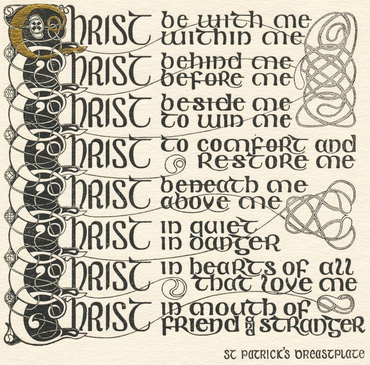 Saint Patrick's Prayer Breastplate