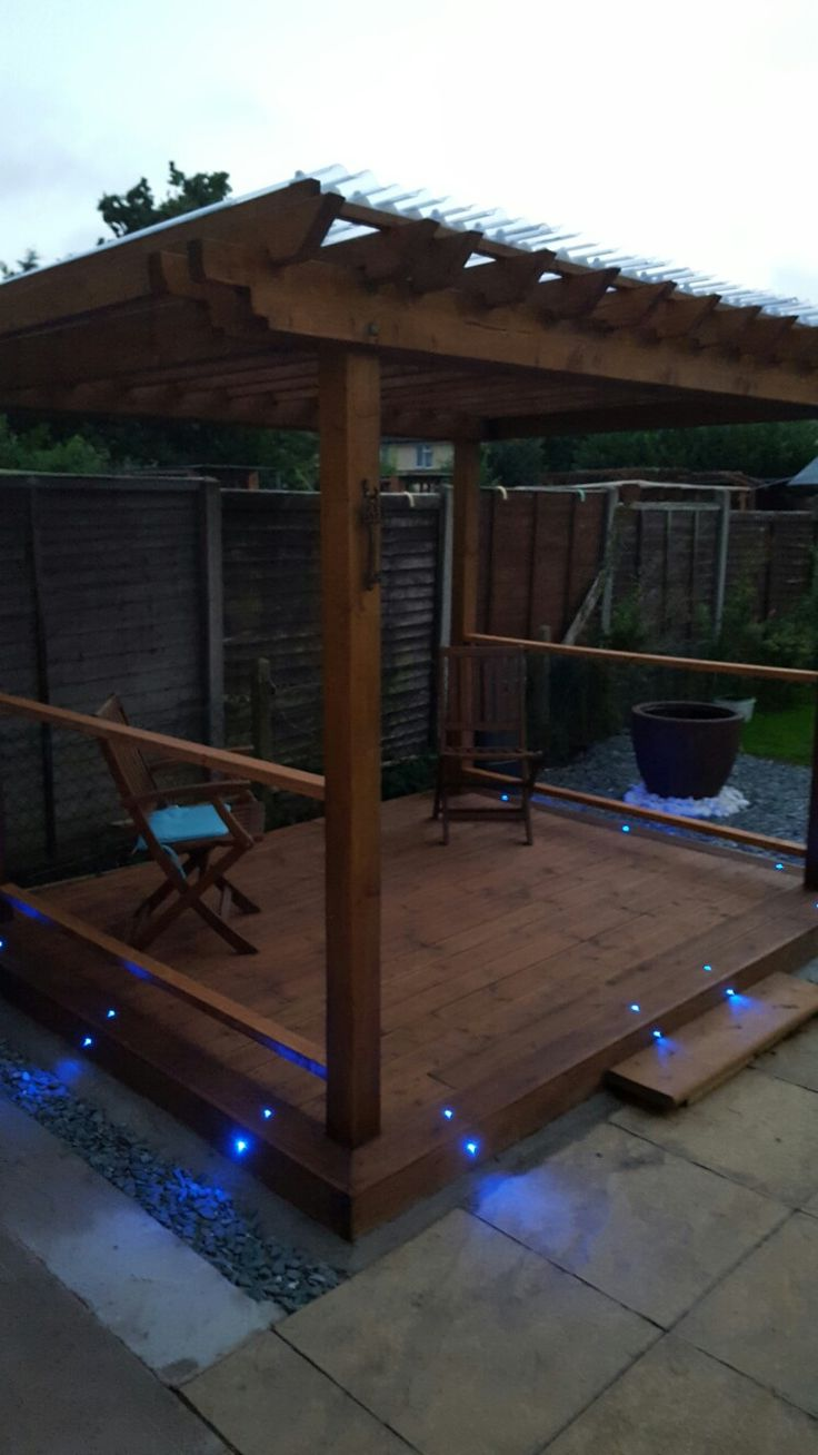 Time to relax under the roofed pergola. Before moving onto