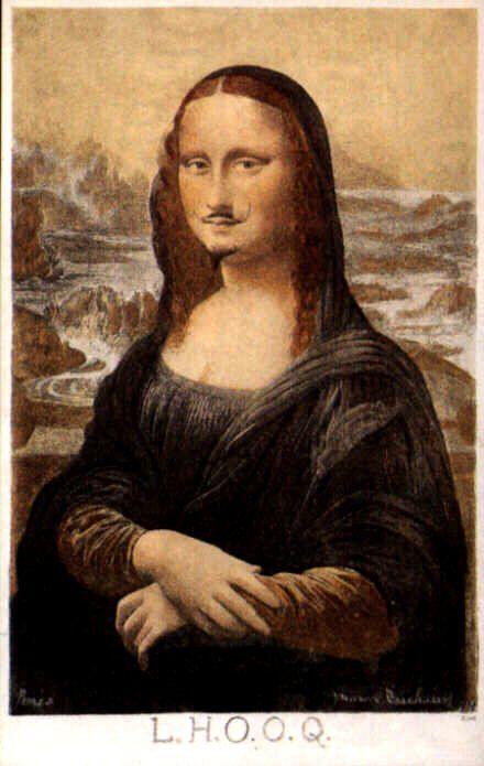 V/ LE XXe SIÈCLE ET L'ART CONTEMPORAIN LE DADAÏSME Marcel Duchamp L.H.O.O.Q. (1919)
