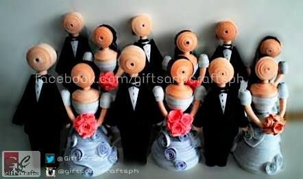 Ready na po for kasalang bayan nyeheheeheeheh. First 6 pairs. #couples #3d #miniaturedoll #handmade #papercraft #giftsandcraftsph #giveaways #wedding #ilovegcph Made to order. Msg us on facebook.com/giftsandcraftsph or sms/call 09235861899 thank you!