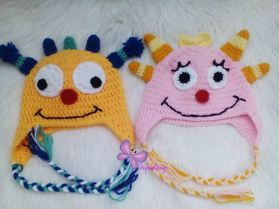 $16 Crochet Henry Hugglemonster Hat or Summer by StephanDesign on Etsy