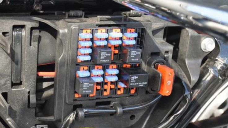 the fuse box contains the protection your sportster's electrical system  needs to prevent shorts from b… in 2021   harley davidson sportster,  sportster, 2014 harley davidson  pinterest
