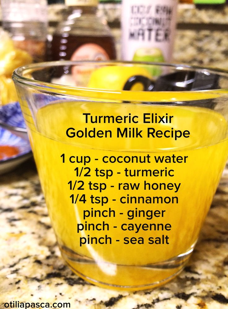 (Sweeten with stevia) Golden Milk -- aka Turmeric Milk -- is an incredibly yummy way to pamper yourself with this inflammation-fighting, metabolism-firing super spice! Refreshing cold, or great warmed up as an after-dinner sweet treat (you can sub almond, hemp, or coconut milk for the coconut water, if you like).