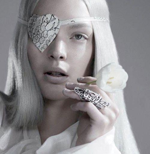 Atsuko Kudo Printed Heart Shaped Eye Patch