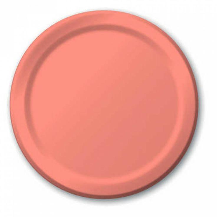 7 Dessert Paper Plates - Light Coral [224-793140B Coral Paper Plate]   sc 1 st  Pinterest & 8 best Wedding - Plates Servewear Cuttlery etc. images on ...