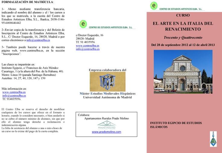 Tríptico 1: Course, En Italy, Renacimiento En