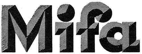 """""""Mifa"""" from Hoffmanns Schriftatlas, 1930. Designer Martin Weinberg, Berlin, """"Marke der Mitteldeutschen Fahrrad-Werke"""""""