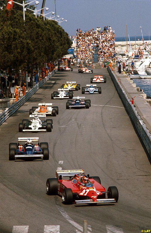 Gilles Villeneuve leads at the Monaco GP in 1981 [Photo: EuroRacer]