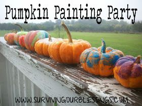 Surviving Our Blessings: Pumpkin Painting Party