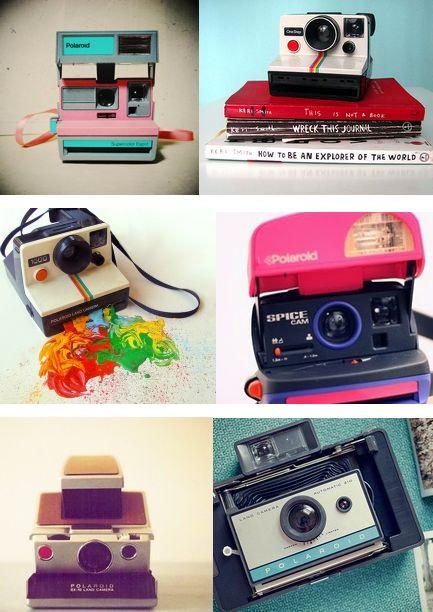 Polaroid cameras ... wow. O.o