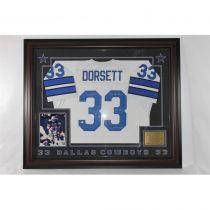 Tony Dorsett Framed Autographed Dallas Cowboys Jersey JSA LOA