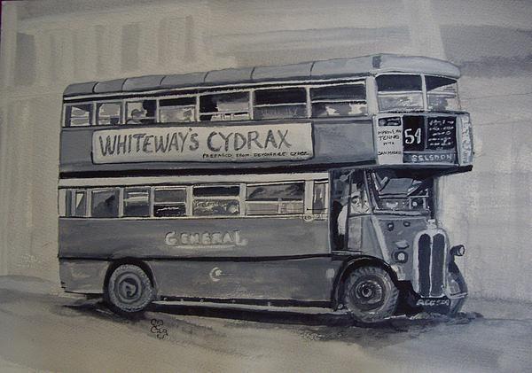 London bus watercolour