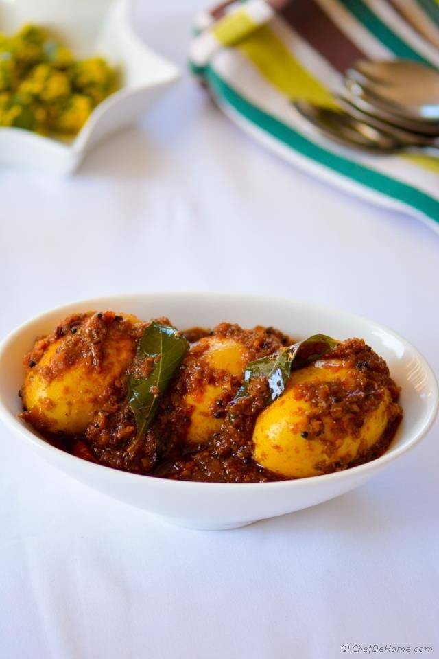 Sharing with you tamarind flavored, spicy, warm and insanely addictive Spicy Andhra-style Egg Curry. This egg curry is one of famous ways to eat eggs in southern part of India. Since eggs are favor...