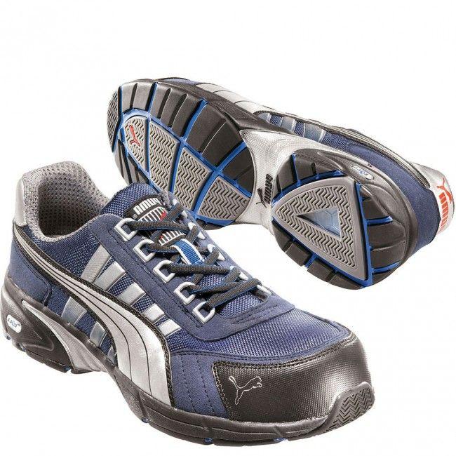 642515 Puma Men's Fast Low Safety Shoes - Black/Blue www.bootbay.com