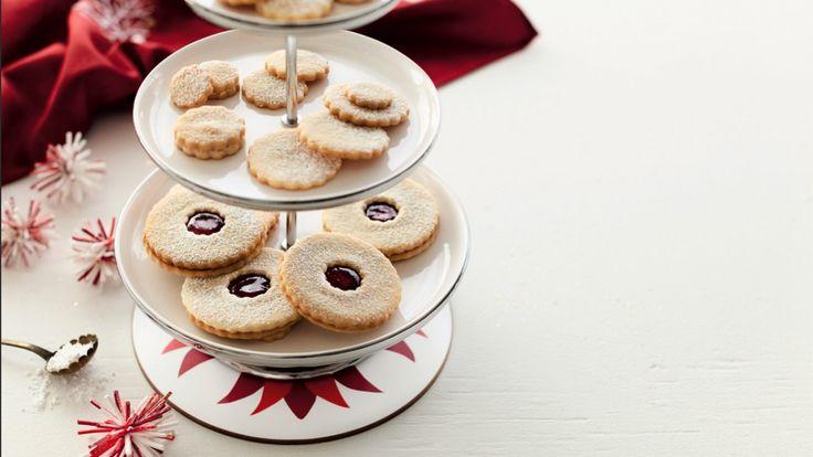 Biscuits au beurre salé et à la pâte d'amandes   Zeste