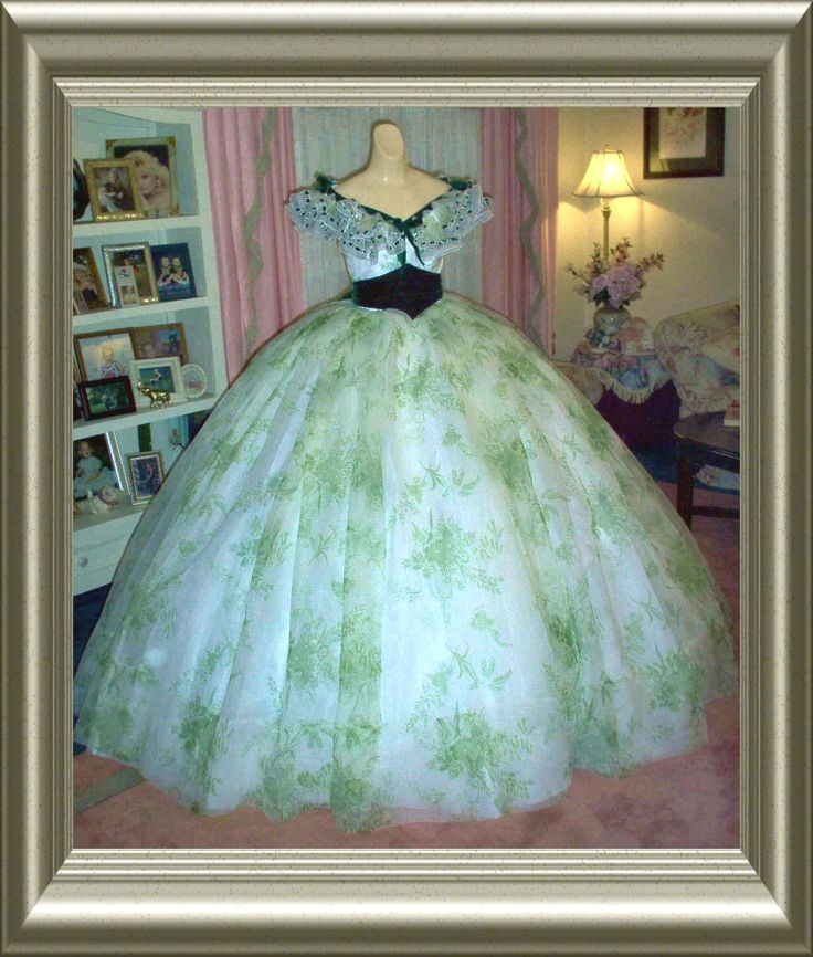 """""""Reproduction BBQ Dress""""  Gone With The Wind"""