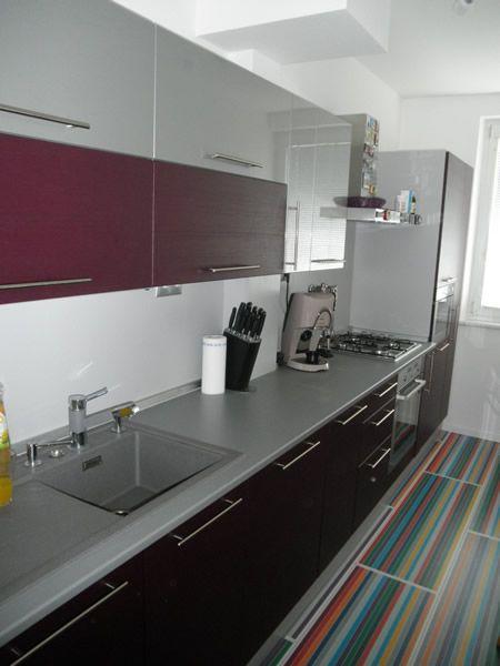 Kuchyňa fialová - BMV Kuchyne