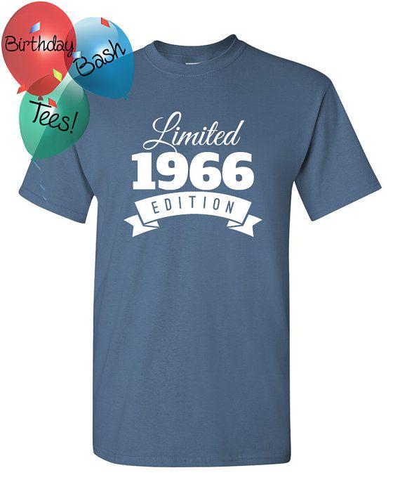 1966 Birthday Shirt 50 Limited Edition By BirthdayBashTees On Etsy