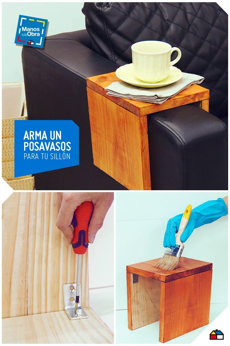 Protege tu sofá y decora tu sala con un posavasos de madera #ideas #casa #hogar #DIY #homedecor