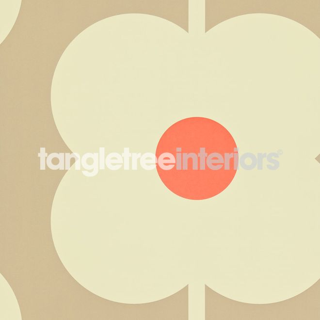 Giant Abacus Flower wallpaper from the Orla Kiely collection from Harlequin - 110408 - Mink