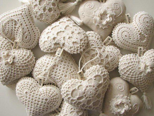Текстильные сердечки. Готовимся ко дню Святого Валентина.