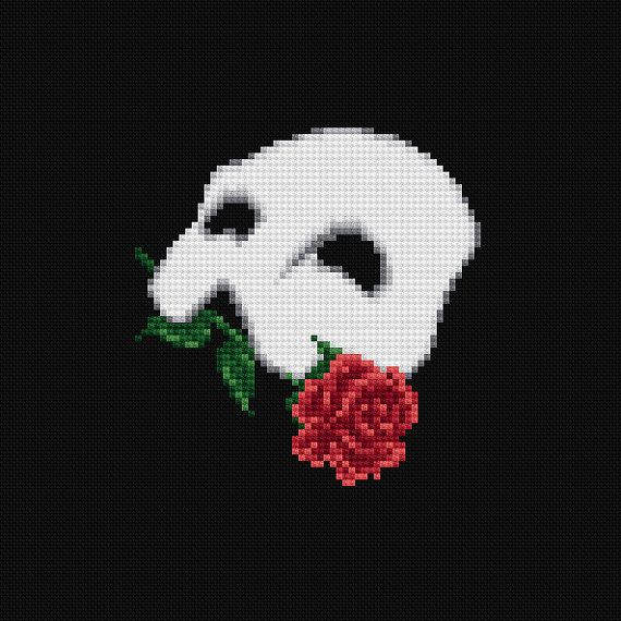 The Phantom of the Opera Musical Cross Stitch Pattern PDF Instant Download