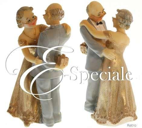 Cake Topper Sposi - Nozze Oro - Prodotti per Matrimonio - Cake Topper - Cake Topper Anniversario - accessori e gadget per matrimoni e feste - E-speciale