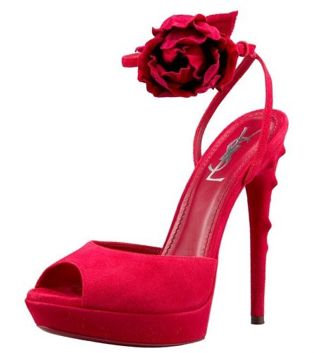 """What girl doesn't love shoes? One day I had a lady come up to me, she said """" I knew that was you as soon as I saw your shoes!"""" Every girl must own a pair of red heels.Yves Saint Laurent, Design Shoes, Crazy Shoes, Highheels Shoes, Keys Style, Back To Basic, 105 Sandals, Red Heels, Ankle Sandals"""
