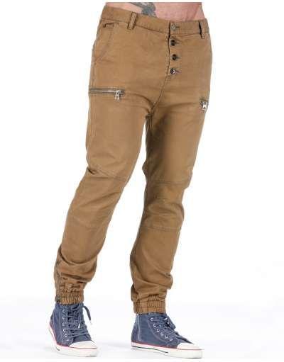 ΑΝΔΡΙΚΑ ΡΟΥΧΑ :: Παντελόνια :: Παντελόνι Drop Crotch 4 Buttons Taba - OEM