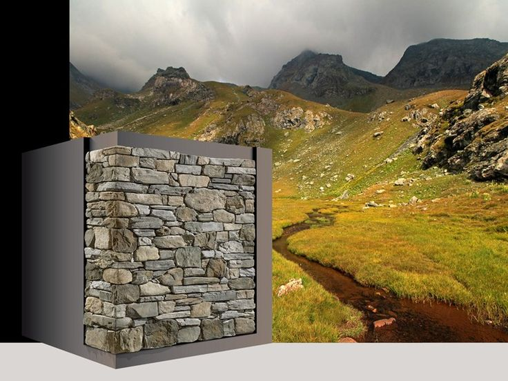 Rivestimento di facciata in pietra artificiale RIVAROLO P87 Collezione Profilo SPONTANEO by GEOPIETRA®