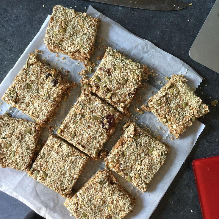 semilla de calabaza, semillas de sésamo y pasas de proteínas bares - Lorena Pascale
