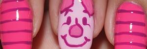 Piglet nail art tutorial