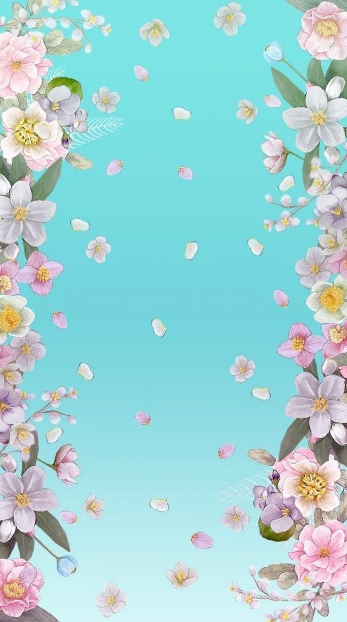 Bonitos Flowery Wallpaper Blue Flowers Background Flower Wallpaper Coolest cool flower wallpaper images