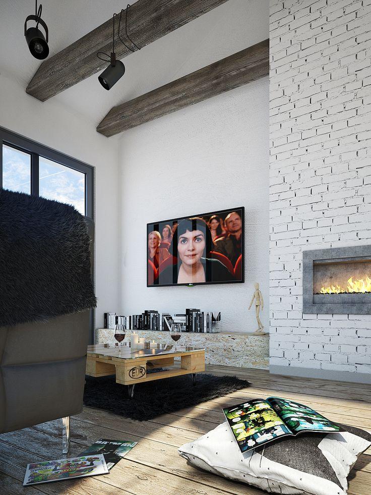 Scandinavian living room. on Behance