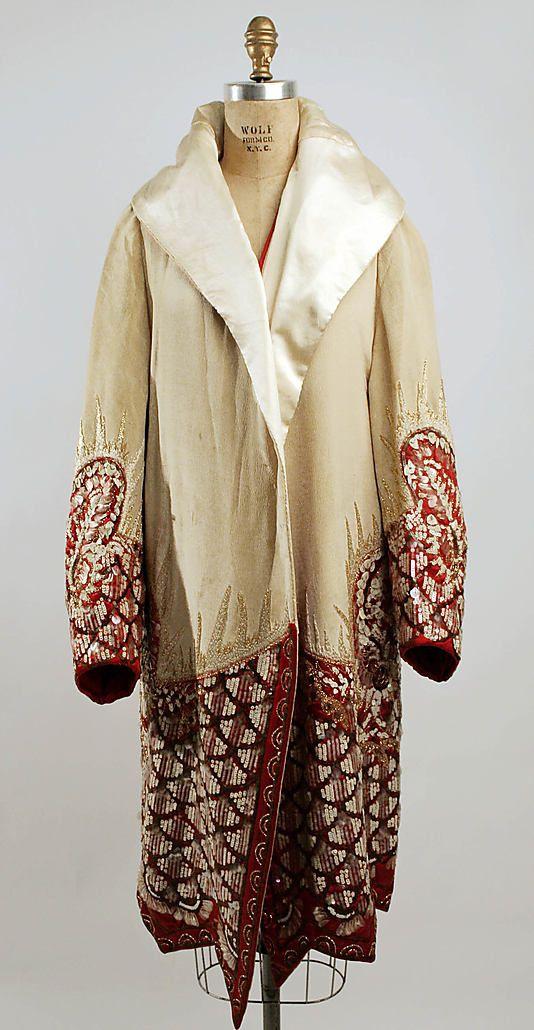 Evening coat   France, circa 1927   Materials: silk, plastic, glass   The Metropolitan Museum of Art, New York