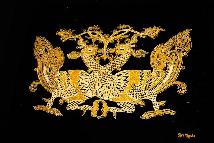 CeyPearl.com - Hansa Puttuwa -  Decorative motif of twin swans - Gold, $41.38 (http://www.ceypearl.com/hansa-puttuwa-decorative-motif-of-twin-swans-gold/)