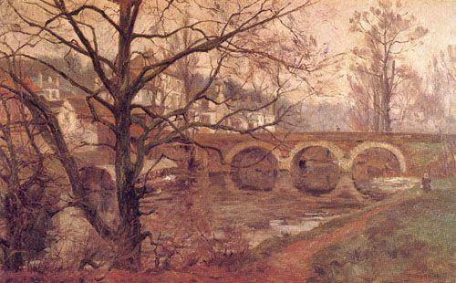 A ORILLAS DEL YERE, 1903 Óleo sobre Tela 59 x 97 cm Mueso Nacional de Bellas Artes