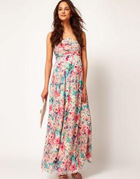 Flowy maxi maternity dresses