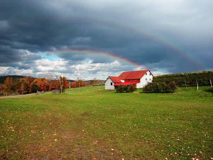 Rainbows happen a lot in NH during the fall, this u-local user was in the right place at the right time! Beautiful!