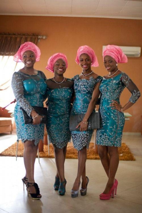 mulheres nigerianas madrinhas
