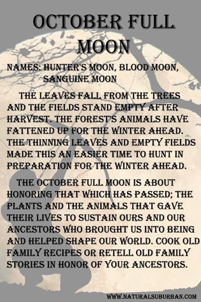 October full moon meaning.